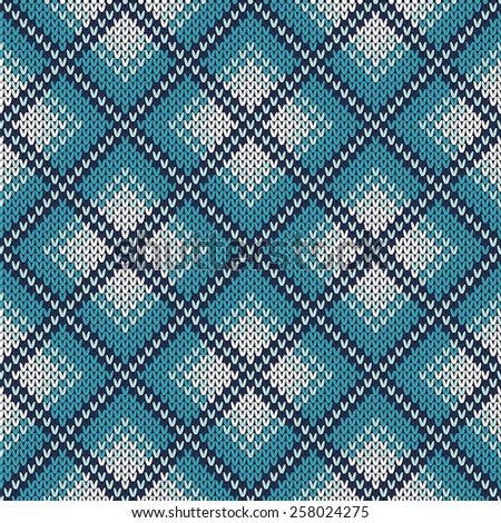 Knitted Sweater Design. Seamless Knitting Pattern - stock vector