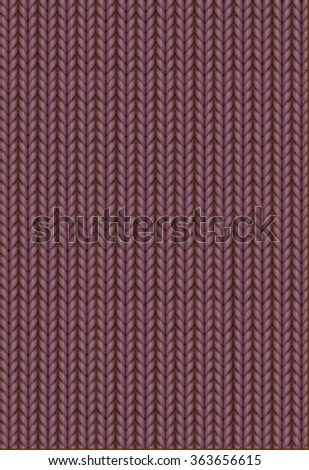 Knitting Pattern. Woolen cloth. Brown or chocolate knitting wool texture background. Sweater or scarf texture. Knitted jersey background. Wool hand-knitted or machine knitting pattern. - stock vector