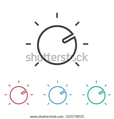 knob icon - stock vector