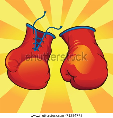 Knockout Boxing Gloves - vector - stock vector