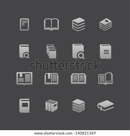 Knowiedge icons - stock vector
