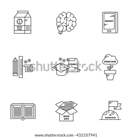 Knowledge-Based icon set - stock vector