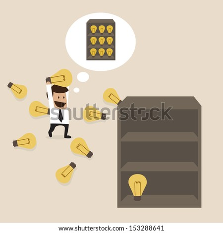 Knowledge management concept - stock vector