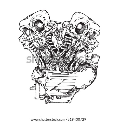 Stock Vector Vector Black And White Pirate Skull Tentacle Illustration