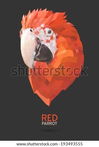 Koala vector polygon geometric - stock vector