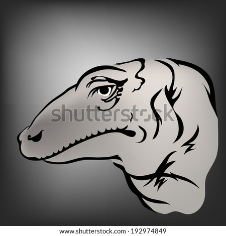 Stock photos royalty free images vectors shutterstock for Komodo dragon tattoo