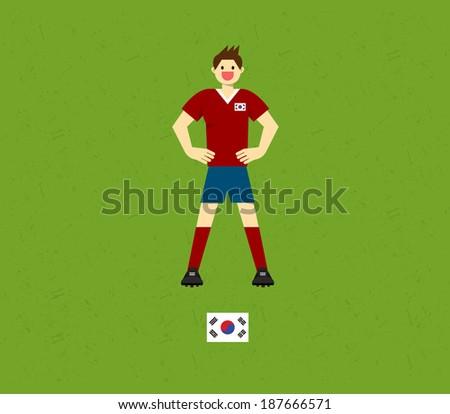 Korea Soccer Tables  - stock vector