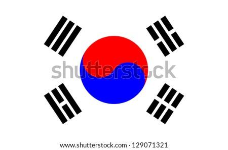 Korean flag - stock vector