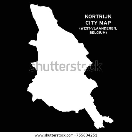 Kortrijk West Vlaanderen Belgium City Map Stock Vector 755804251