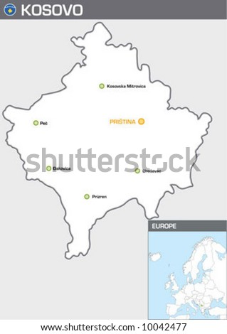 Kosovo - stock vector
