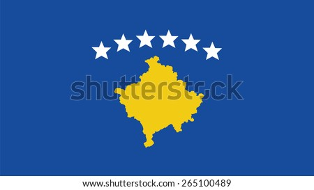 Kosovo Flag for Independence Day and infographic Vector illustration. - stock vector