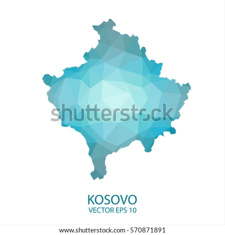Kosovo world map pixel diamond texture vectores en stock 215052172 kosovo map blue geometric rumpled triangular low poly style gradient graphic background polygonal design gumiabroncs Image collections