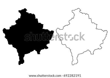 Kosovo Map Stock Images RoyaltyFree Images Vectors Shutterstock - Kosovo map