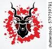 kudu head front view designed...