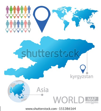 Kyrgyzstan asia world map vector illustration stock vector 151386164 kyrgyzstan asia world map vector illustration gumiabroncs Image collections