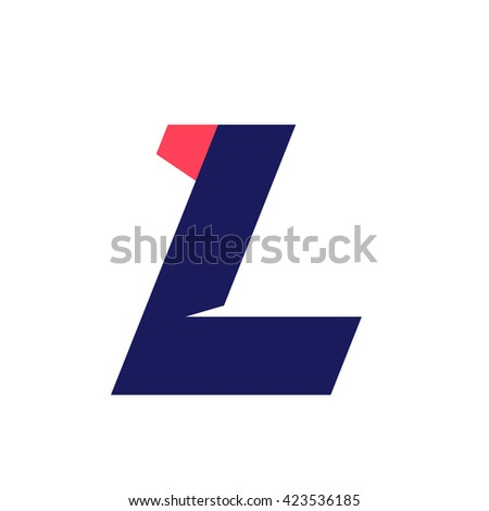 L letter run logo design template. Vector sport style typeface for sportswear, sports club, app icon, corporate identity, labels or posters. - stock vector