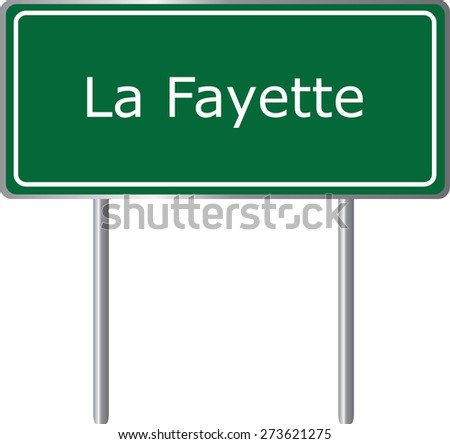 La Fayette, Alabama, road sign green vector illustration, road table, USA city - stock vector