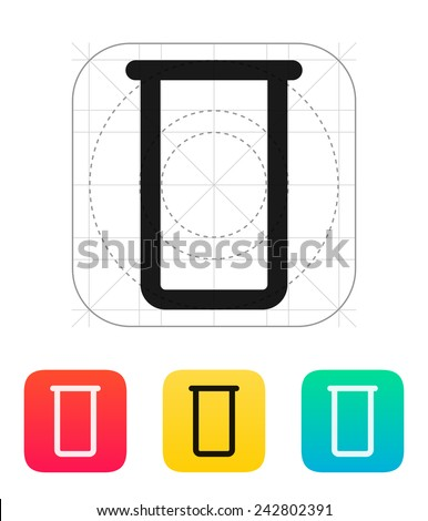 Lab flask icon on white background.. Vector illustration. - stock vector