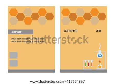 Lab Report Science Report Brochure Template Stock Vector 413634967
