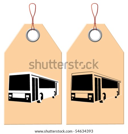 Label and design element. Trip. - stock vector
