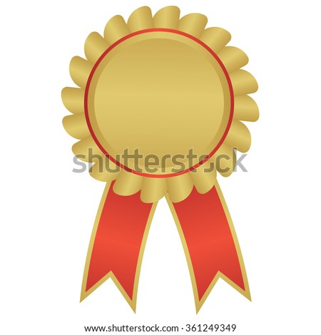 label ,  award  with ribbons. Vector illustration. - stock vector