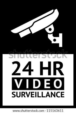 label CCTV - stock vector