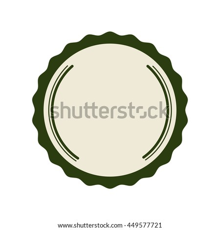 Label concept represented by seal stamp icon. Isolated and flat illustration