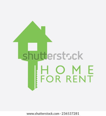 Label design for : Rent Home - stock vector