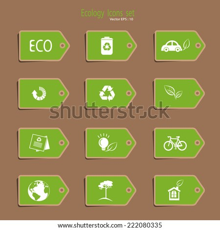 Label - Ecological Icons set - stock vector