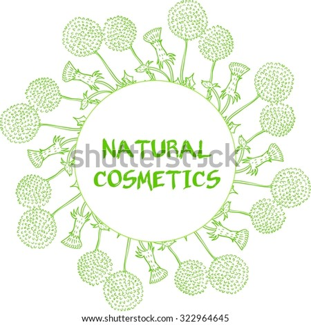 Label for natural cosmetic products. Organic product badge. Vector illustration.