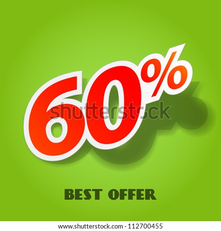 Label for special offers and sales discount. EPS10. Used effect transparency layers of shadow - stock vector