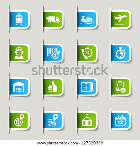 Label - Logistic and Shipping icons - stock vector