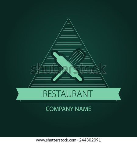 Label, logo or menu design  for restaurant or bakery - stock vector