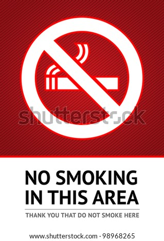 Label No smoking sticker. Vector 10eps - stock vector