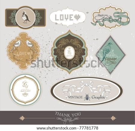 label set design - stock vector