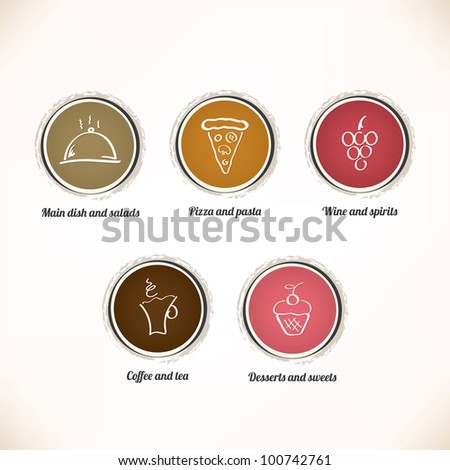 Label set for restaurant, cafe and bar - stock vector