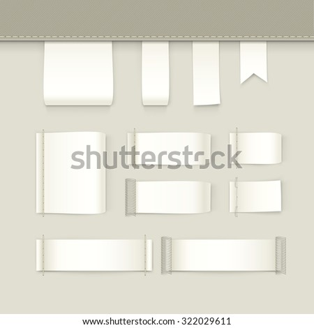 Label Tag Stitch Set Vector Isolated - stock vector
