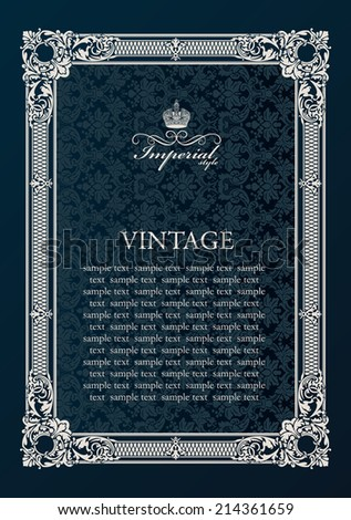 Label vector frame. Vintage antique decor ornament elements - stock vector