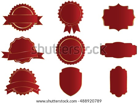 Border Gold Red Round Stock Photos, Royalty-Free Images & Vectors ...
