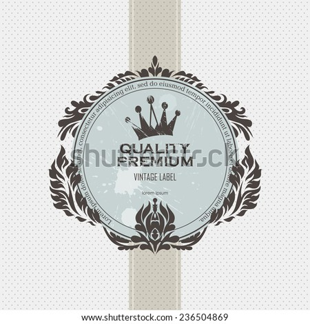 Label vintage grunge - stock vector