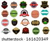 Labels and banners set in vintage retro style or idea of logo. Jpeg version also available in gallery - stock photo