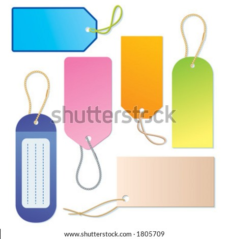 Labels and tags - vector