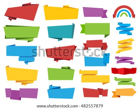 Labels Banners Ribbon Vector Tag