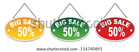 Labels - Big Sale 50%. Vector - stock vector