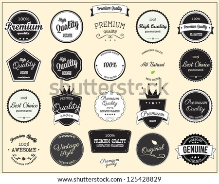 Labels collection - stock vector