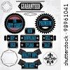 Labels. Design elements with retro vintage design - stock vector