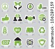 Labels - eco - vector illustration - stock vector