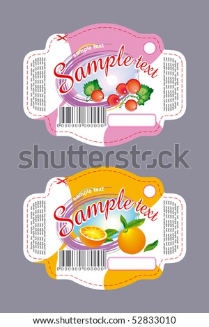 Labels for cookies with currant and orange