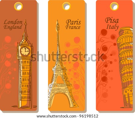 Labels for travel around the world, the vector - stock vector