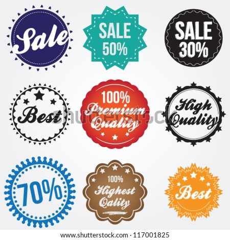 Labels in retro style - stock vector